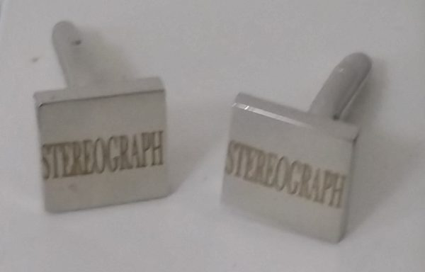 Stereograph Squared Cuff Links